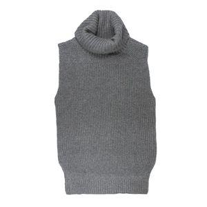 RALPH LAUREN Long Turtleneck Sleeveless Sweater